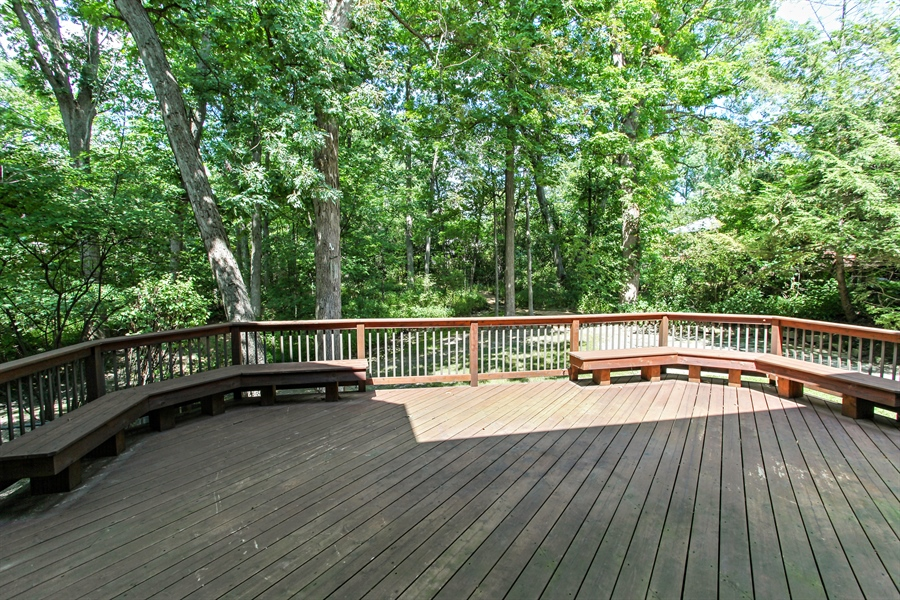 Real Estate Photography - 839 Bob O Link Rd, Highland Park, IL, 60035 - Deck