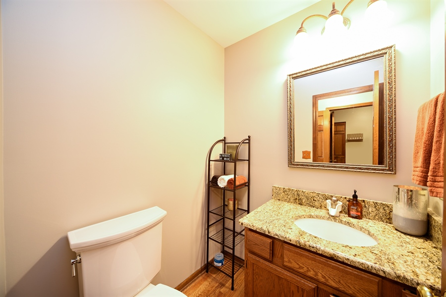 Real Estate Photography - 224 Lexington ave, Fox River Grove, IL, 60021 - Half Bath