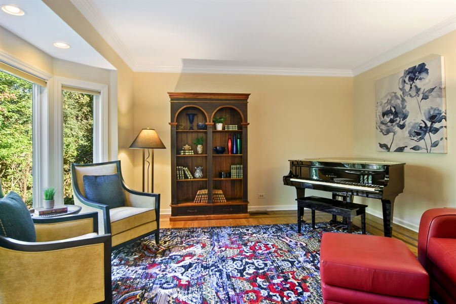 Real Estate Photography - 5443 Forrest Trail, Long Grove, IL, 60047 - Living Room / Study with French doors