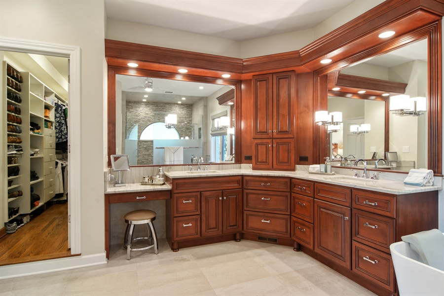 Real Estate Photography - 5443 Forrest Trail, Long Grove, IL, 60047 - Master Bathroom