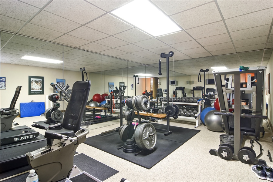 Real Estate Photography - 5443 Forrest Trail, Long Grove, IL, 60047 - Exercise Room