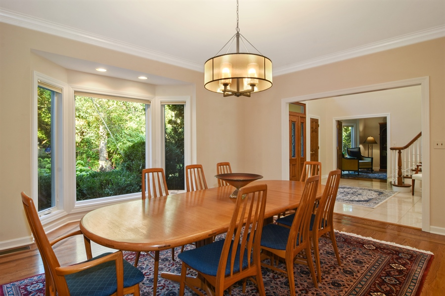 Real Estate Photography - 5443 Forrest Trail, Long Grove, IL, 60047 - Dining Room