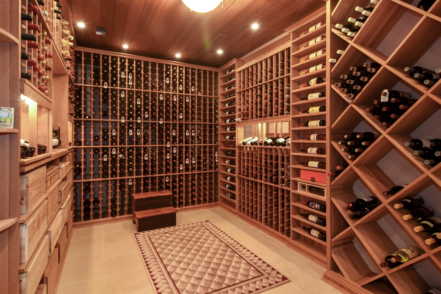 Real Estate Photography - 5443 Forrest Trail, Long Grove, IL, 60047 - State of the Art Wine Cellar