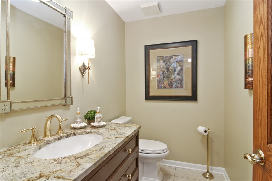 Real Estate Photography - 5443 Forrest Trail, Long Grove, IL, 60047 - Half Bath