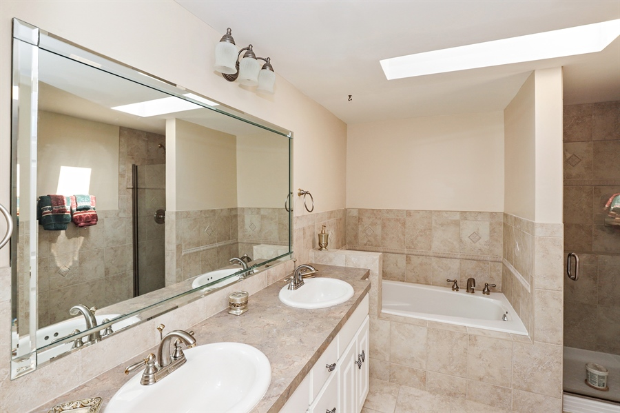Real Estate Photography - 404 N Beck, Lindenhurst, IL, 60046 - Master Bathroom