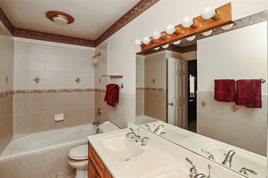Real Estate Photography - 404 N Beck, Lindenhurst, IL, 60046 - Bathroom