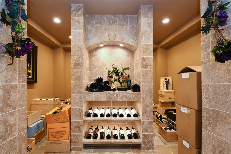 Real Estate Photography - 30 Golf View Lane, Frankfort, IL, 60423 - Wine Cellar