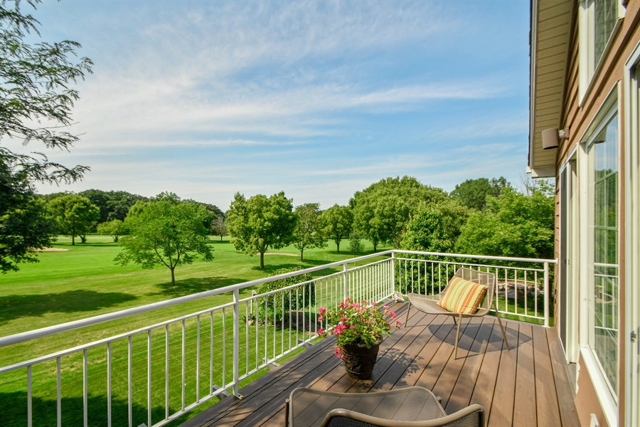 Real Estate Photography - 30 Golf View Lane, Frankfort, IL, 60423 - Balcony
