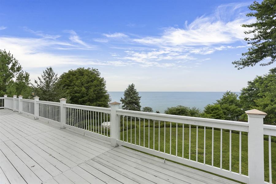Real Estate Photography - 48013 Ridge Rd, New Buffalo, MI, 49117 - Deck