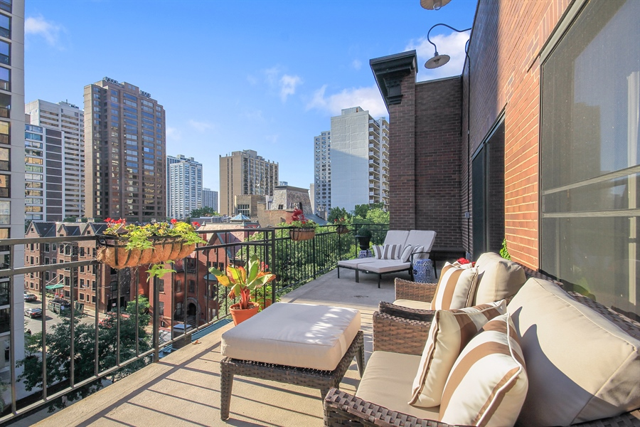 Real Estate Photography - 39 E Schiller Street, Unit 4W, Chicago, IL, 60610 - Terrace off 2nd/3rd/4th Bedroom