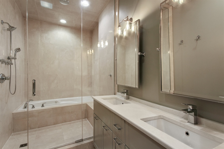Real Estate Photography - 39 E Schiller Street, Unit 4W, Chicago, IL, 60610 - Master Bathroom
