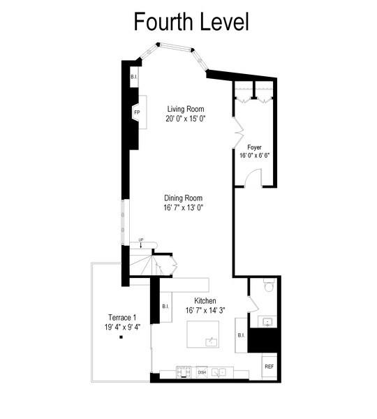 Real Estate Photography - 39 E Schiller Street, Unit 4W, Chicago, IL, 60610 - Main Level