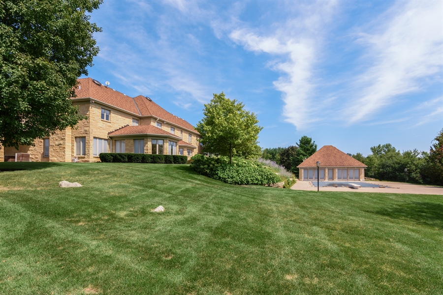 Real Estate Photography - 215 Dundee Rd, Barrington Hills, IL, 60010 - Side View