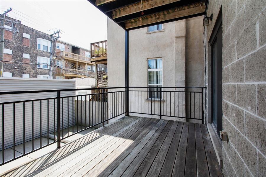 Real Estate Photography - 1257 E 46th St., 101W, Chicago, IL, 60653 - Deck
