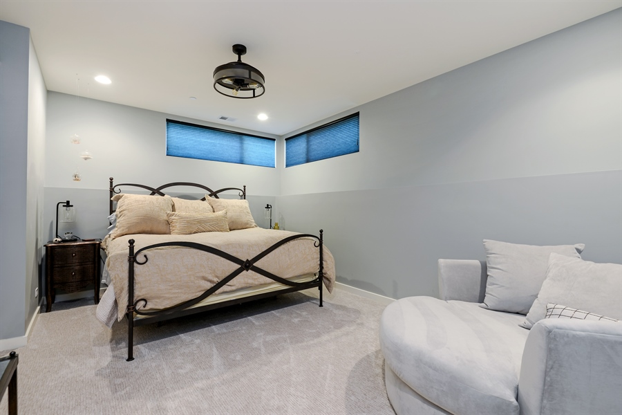 Real Estate Photography - 1133 Leonard Place, Evanston, IL, 60201 - Lower level Bedroom
