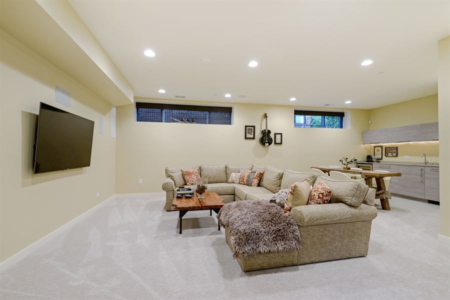 Real Estate Photography - 1133 Leonard Place, Evanston, IL, 60201 - Recreational Room
