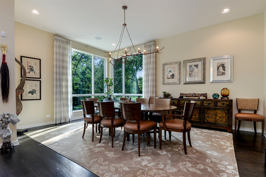 Real Estate Photography - 1133 Leonard Place, Evanston, IL, 60201 - Dining Room