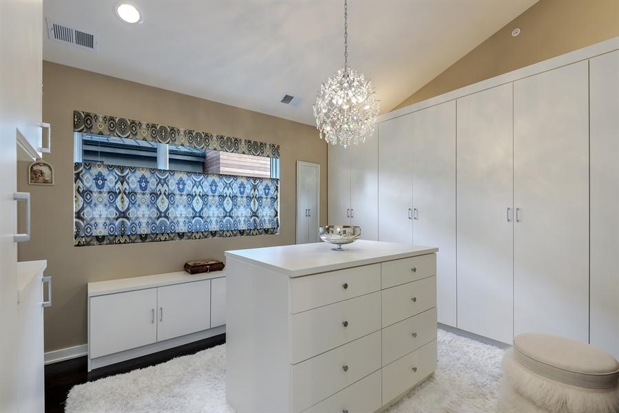 Real Estate Photography - 1133 Leonard Place, Evanston, IL, 60201 - Master Bedroom Dressing Room