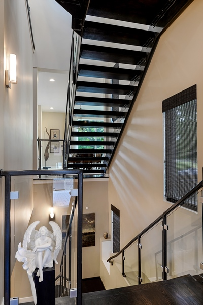 Real Estate Photography - 1133 Leonard Place, Evanston, IL, 60201 - View of staircase from back entrance