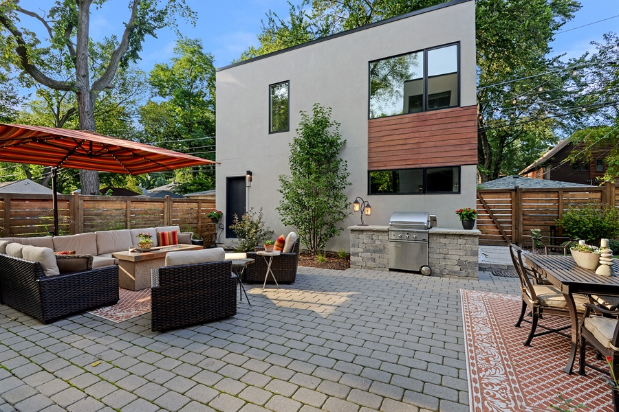 Real Estate Photography - 1133 Leonard Place, Evanston, IL, 60201 - Patio and Coach House