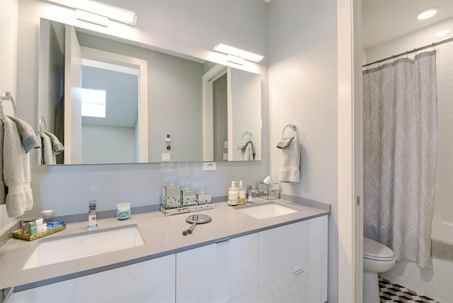 Real Estate Photography - 1133 Leonard Place, Evanston, IL, 60201 - Hall Bath