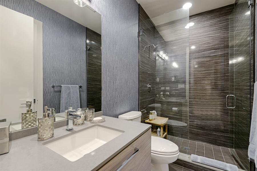 Real Estate Photography - 1133 Leonard Place, Evanston, IL, 60201 - Lower Level Bath