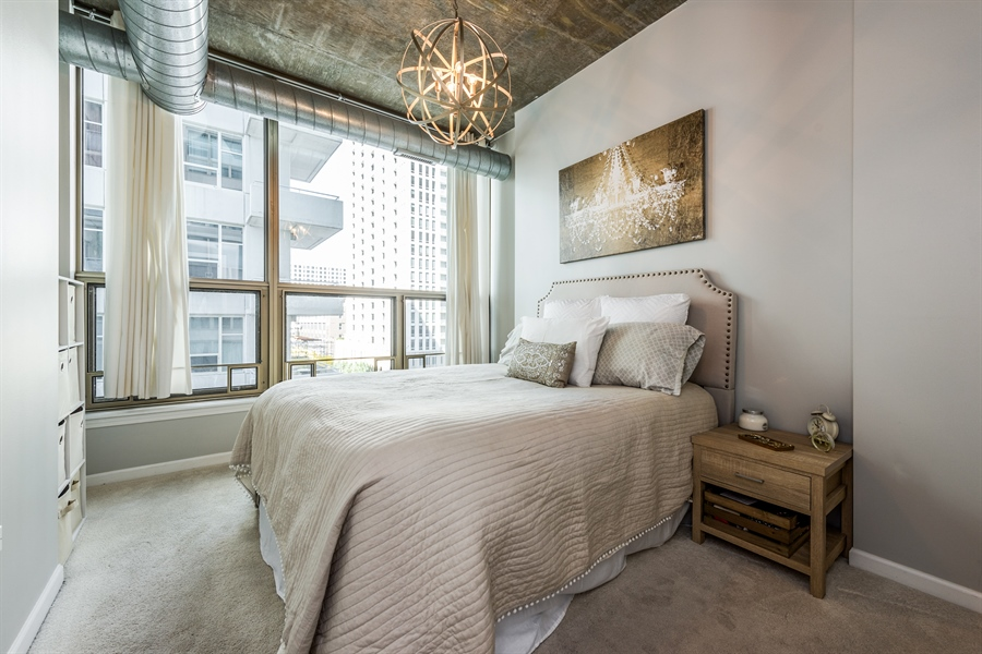 Real Estate Photography - 125 E 13th St, 615, Chicago, IL, 60605 - Bedroom