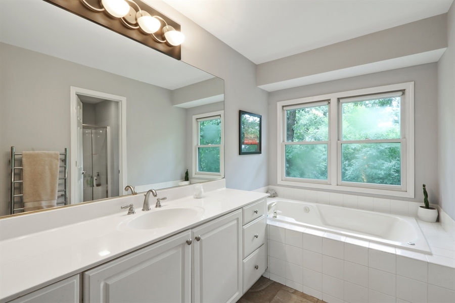 Real Estate Photography - 12390 W Quassey, Lake Bluff, IL, 60044 - Master Bathroom