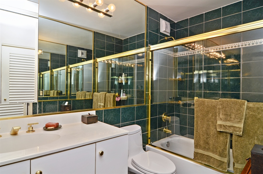 Real Estate Photography - 405 N Wabash, Unit 4404, Chicago, IL, 60611 - Master Bathroom