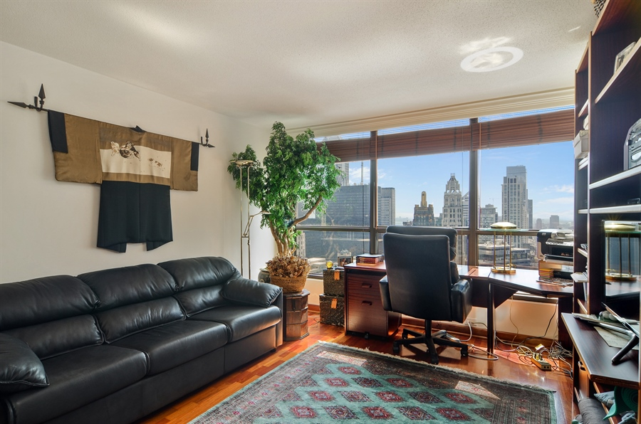 Real Estate Photography - 405 N Wabash, Unit 4404, Chicago, IL, 60611 - 2nd Bedroom