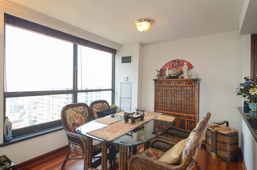 Real Estate Photography - 405 N Wabash, Unit 4404, Chicago, IL, 60611 - Dining Room