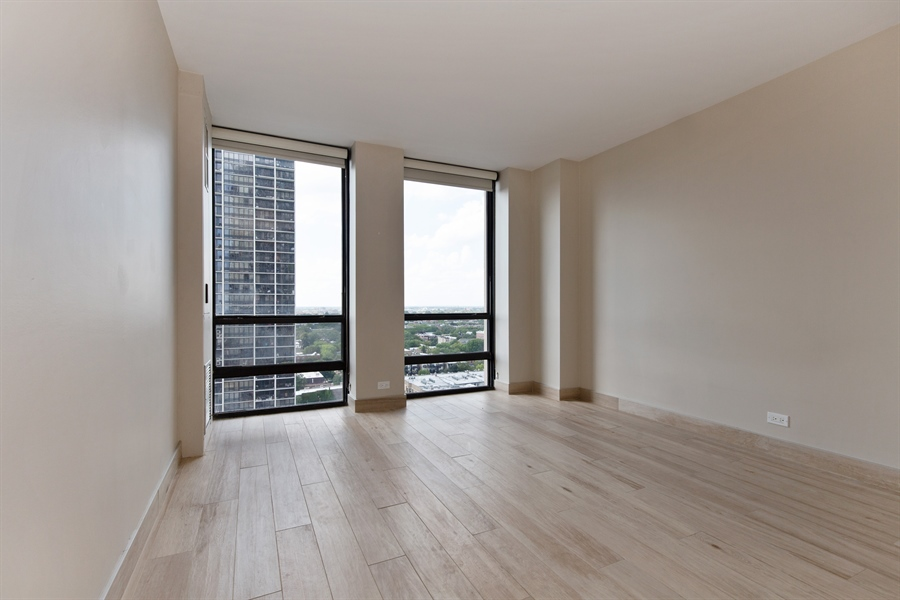 Real Estate Photography - 1660 N Lasalle Dr, 1702, Chicago, IL, 60614 - Bedroom