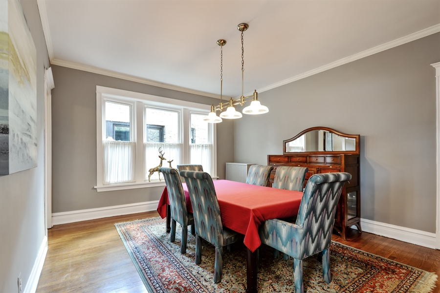 Real Estate Photography - 6221 N Magnolia Ave, 3S, Chicago, IL, 60660 - Dining Room