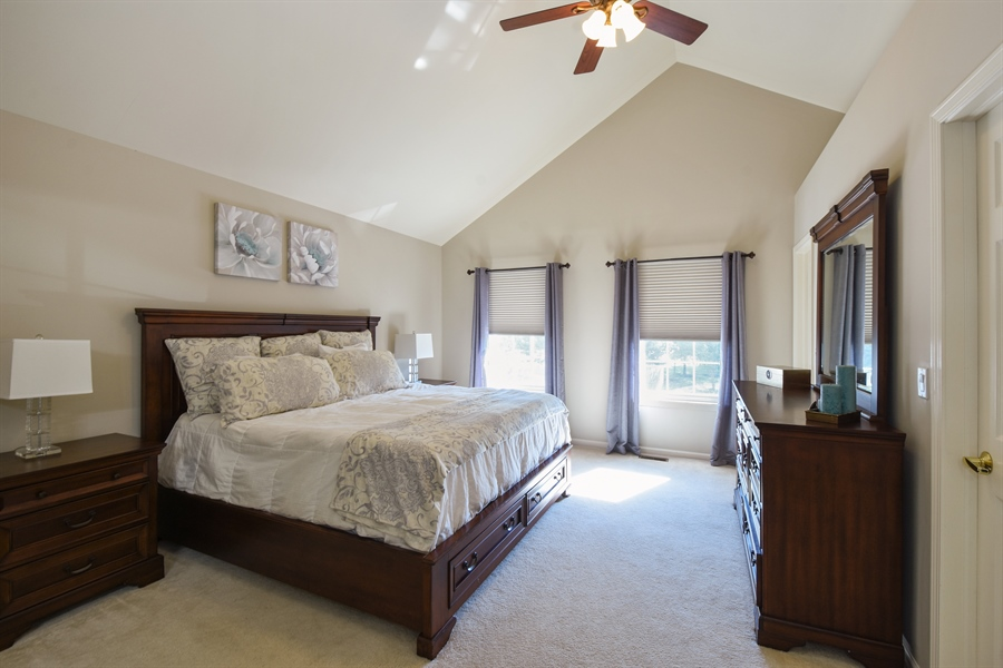 Real Estate Photography - 1214 Christine, Vernon Hills, IL, 60061 - Master Bedroom
