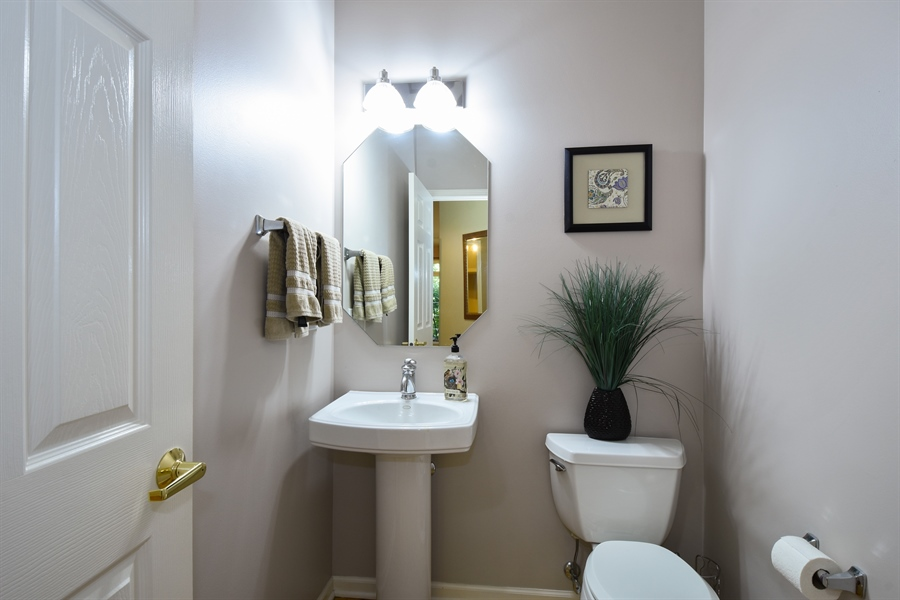 Real Estate Photography - 1214 Christine, Vernon Hills, IL, 60061 - Powder Room