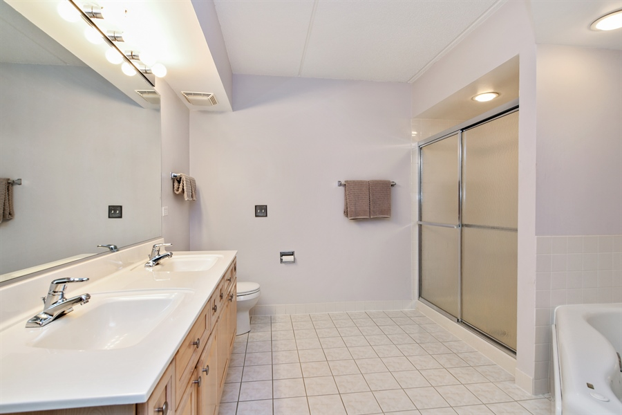 Real Estate Photography - 1325 Perry St, Unit 405, Des Plaines, IL, 60016 - Master Bathroom
