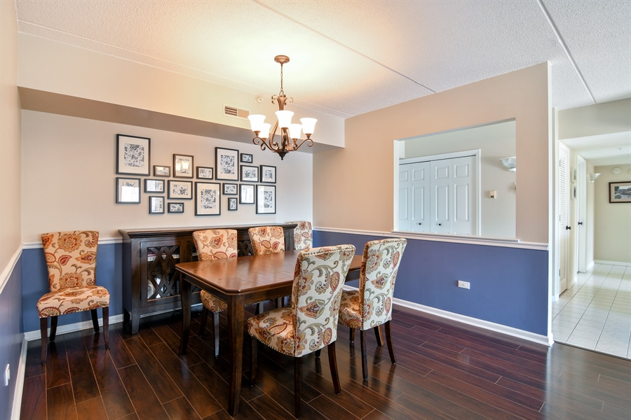 Real Estate Photography - 1325 Perry St, Unit 405, Des Plaines, IL, 60016 - Dining Room