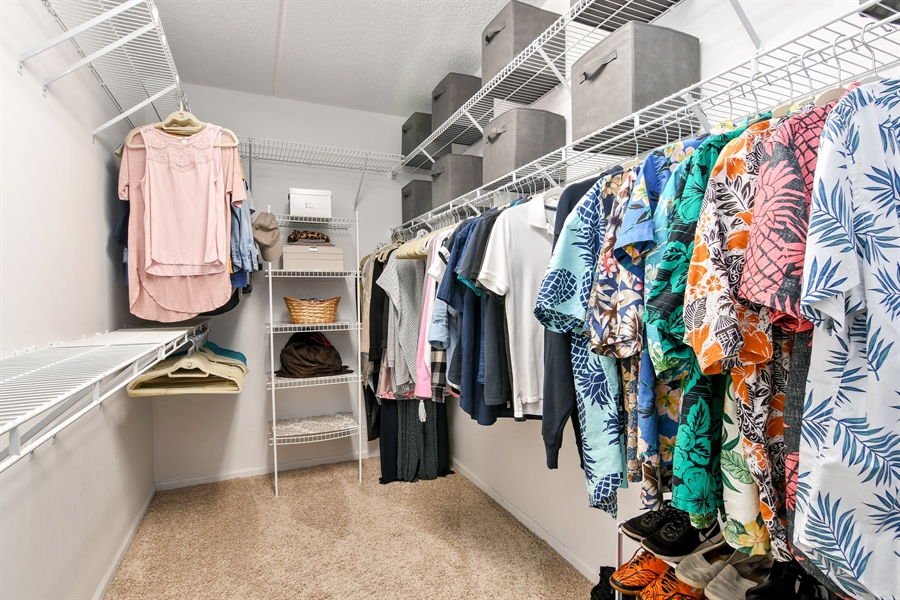 Real Estate Photography - 1325 Perry St, Unit 405, Des Plaines, IL, 60016 - Master Bedroom Closet