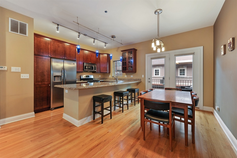 Real Estate Photography - 3451 N. Whipple, n/a, Chicago, IL, 60618 - Kitchen / Dining Room