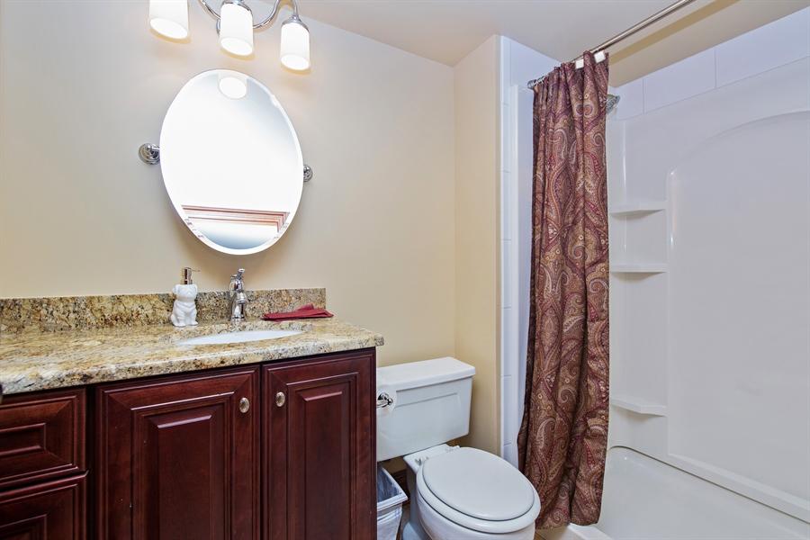 Real Estate Photography - 419 N Wheaton Ave, Wheaton, IL, 60187 - Basement Bathroom