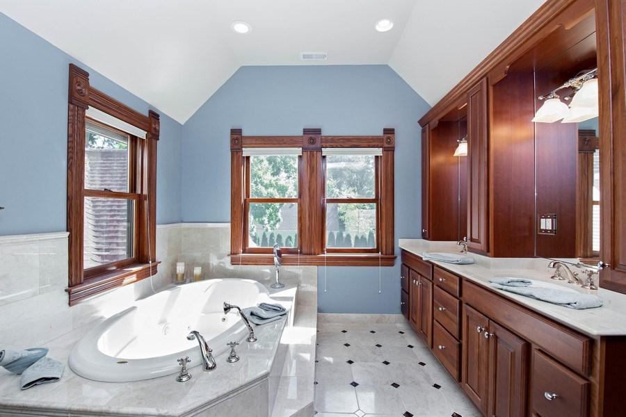 Real Estate Photography - 419 N Wheaton Ave, Wheaton, IL, 60187 - Master Bathroom
