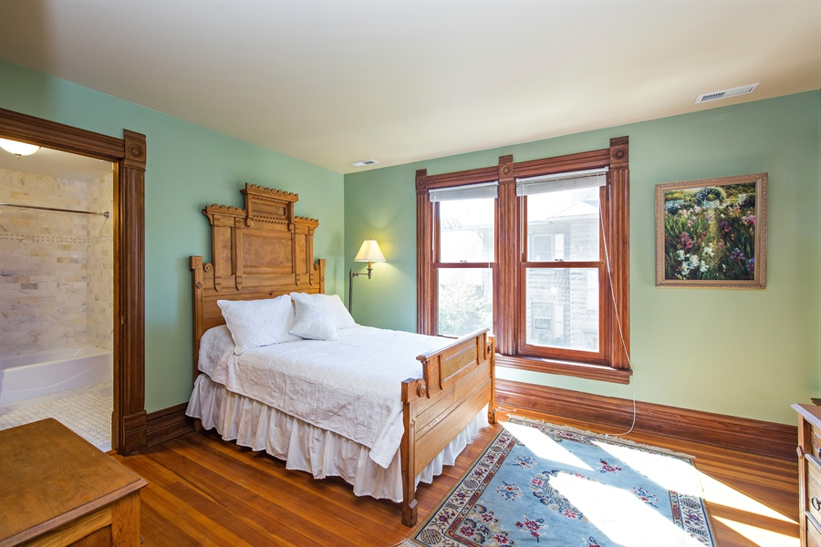 Real Estate Photography - 419 N Wheaton Ave, Wheaton, IL, 60187 - 2nd Bedroom/En-Suite