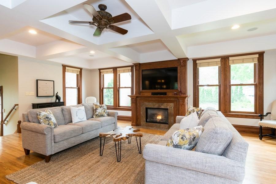 Real Estate Photography - 419 N Wheaton Ave, Wheaton, IL, 60187 - Living Room