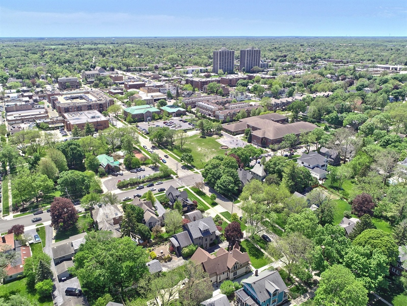 Real Estate Photography - 419 N Wheaton Ave, Wheaton, IL, 60187 - Aerial View