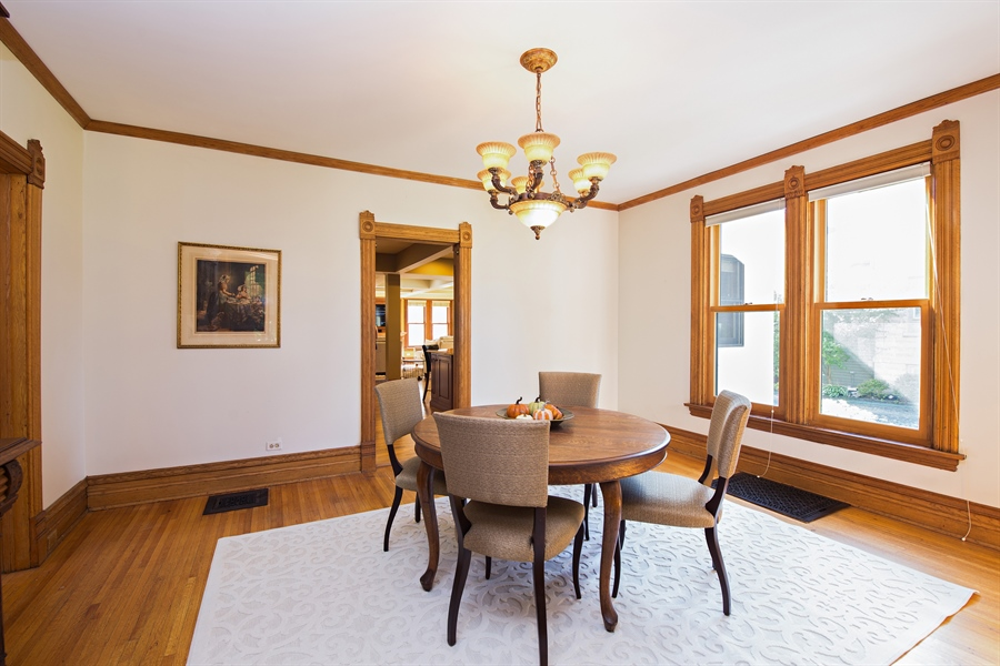 Real Estate Photography - 419 N Wheaton Ave, Wheaton, IL, 60187 - Formal Dining Room