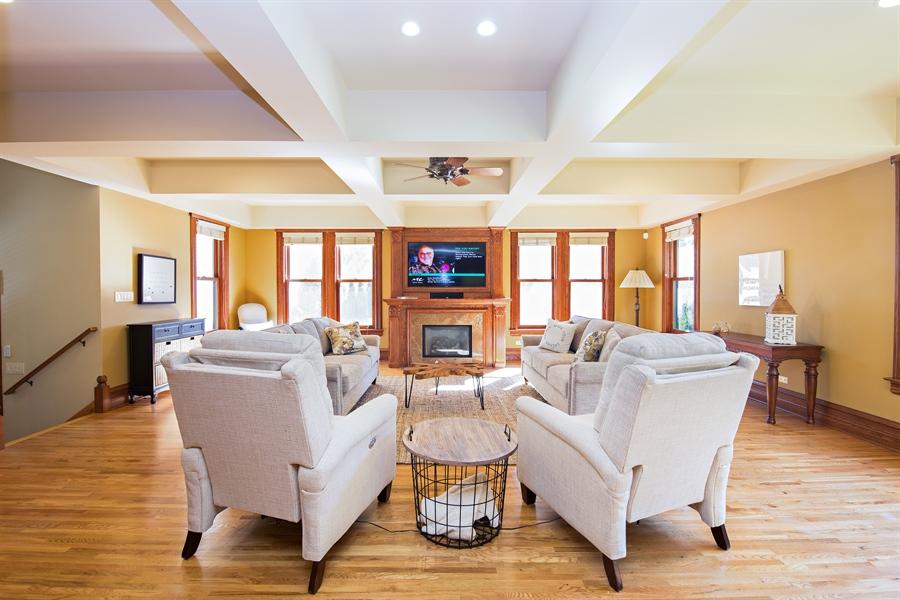 Real Estate Photography - 419 N Wheaton Ave, Wheaton, IL, 60187 - Family Room