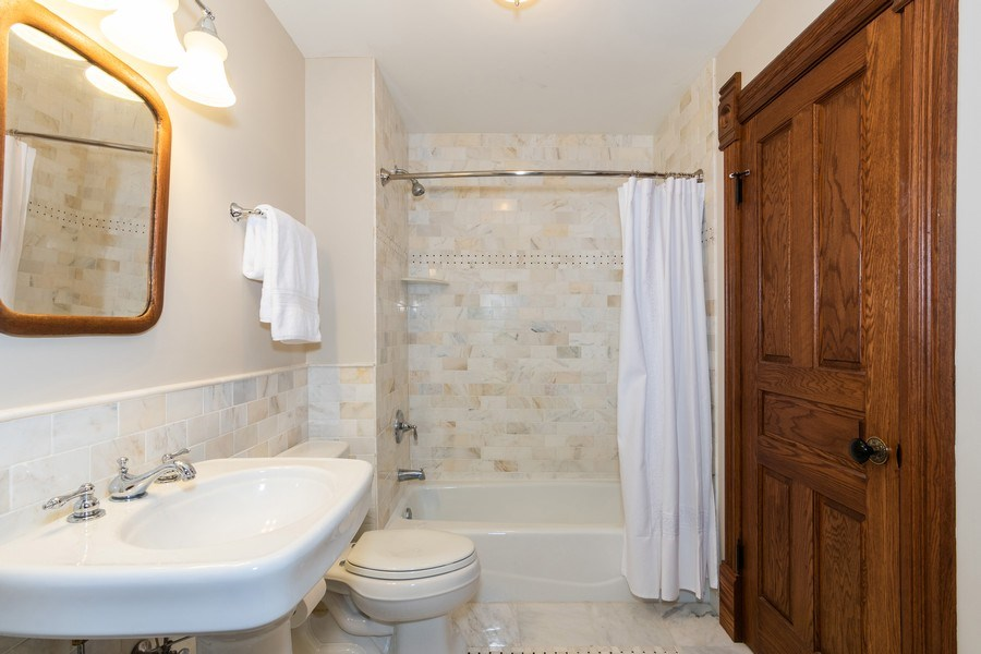 Real Estate Photography - 419 N Wheaton Ave, Wheaton, IL, 60187 - En-Suite Bathroom