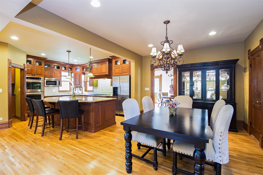 Real Estate Photography - 419 N Wheaton Ave, Wheaton, IL, 60187 - Dining Room