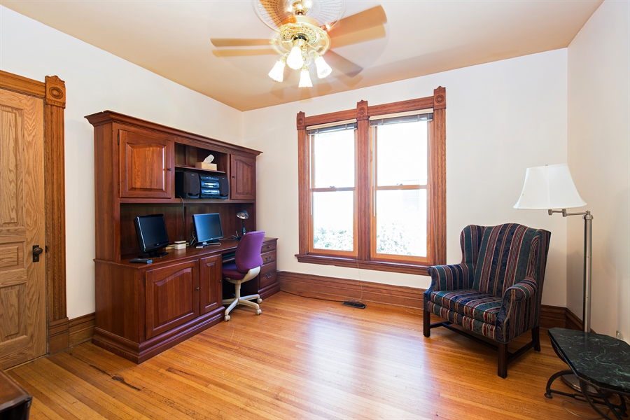 Real Estate Photography - 419 N Wheaton Ave, Wheaton, IL, 60187 - First Floor Office/5th Bedroom