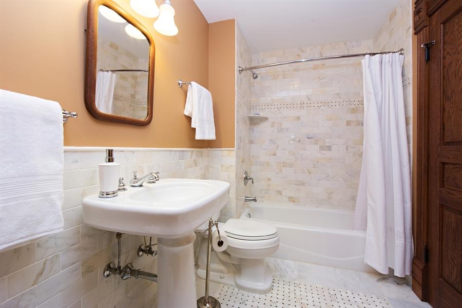 Real Estate Photography - 419 N Wheaton Ave, Wheaton, IL, 60187 - 2nd Bathroom